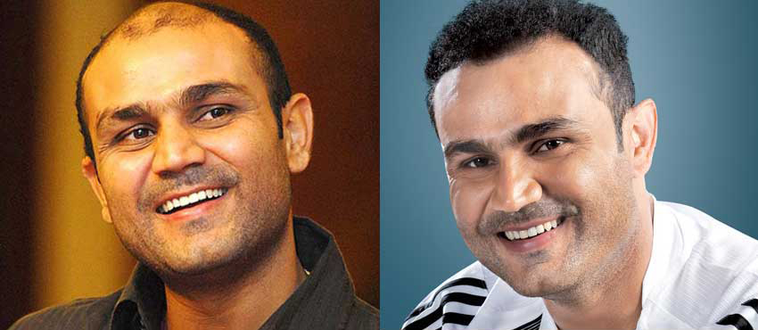 virender sehwag hair transplant before and after