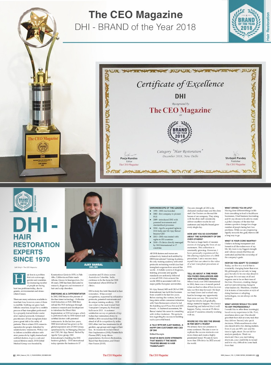 DHI awarded the Brand of the Year