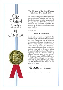 Certificate patent & Awards